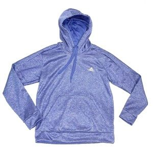 Adidas Womens Purple Front Pocket Hoodie